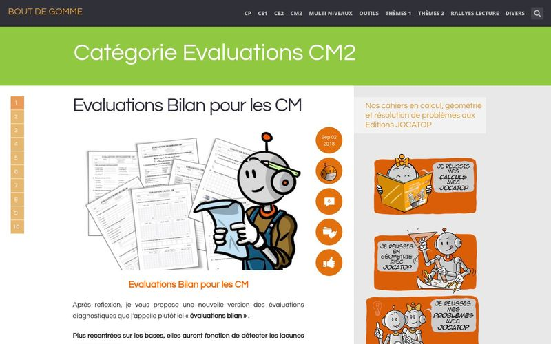 Evaluations CM2 : Bout de Gomme